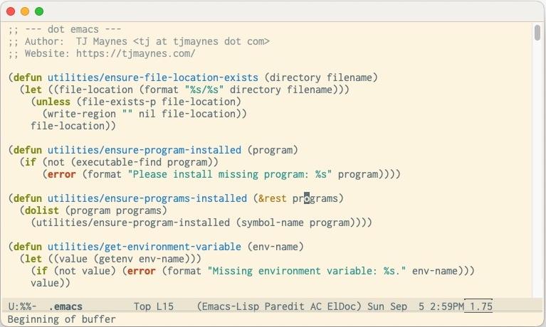 my emacs